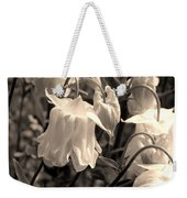 White Columbine Lanterns Monochrome Horizontal Weekender Tote Bag