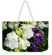 White Columbine With Purple Phlox Weekender Tote Bag
