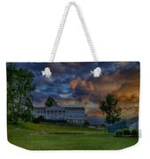 White Columns Under Evening Skies Weekender Tote Bag