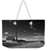White Country Chuch And Road Weekender Tote Bag
