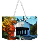 White Covered Bridge  Colorful Autumn New England Weekender Tote Bag