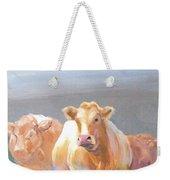 White Cows Painting Weekender Tote Bag