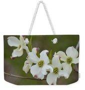 White Cross Flowers Weekender Tote Bag