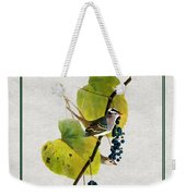 White Crowned Finch Square Weekender Tote Bag