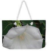 White Datura Weekender Tote Bag