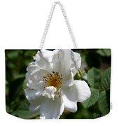 White Dog Rose Weekender Tote Bag