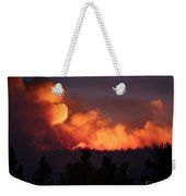 White Draw Fire First Night Weekender Tote Bag