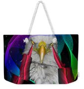 white Eagle face Weekender Tote Bag