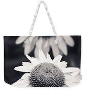 White Echinacea Flower Or Coneflower Weekender Tote Bag by Adam Romanowicz