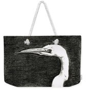 White Egret Art - The Great One - By Sharon Cummings Weekender Tote Bag