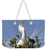White Egret In Spring Weekender Tote Bag