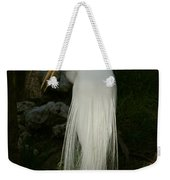 White Egret In The Shadows Weekender Tote Bag