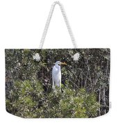 White Egret In The Swamp Weekender Tote Bag