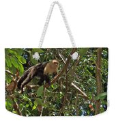 White-faced Capuchin Monkey In Manuel Antonio National Preserve-costa Rica Weekender Tote Bag
