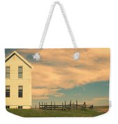 White Farmhouse And Corral Weekender Tote Bag