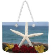 White Finger Starfish And Flowers Weekender Tote Bag