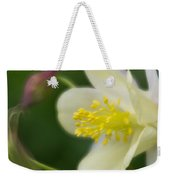 White Flower And Swirls Weekender Tote Bag