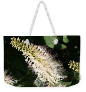 White Flower Panicle Weekender Tote Bag