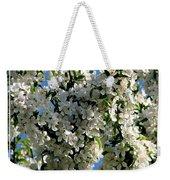 White Flowering Crabapple Tree Weekender Tote Bag