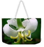 White Flowering Rose Trillium Weekender Tote Bag