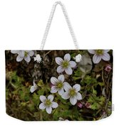 White Flowers And Moss Weekender Tote Bag