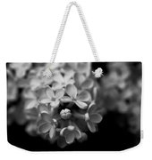 White Flowers In Black And White Weekender Tote Bag