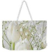 White Flowers Pii Weekender Tote Bag