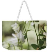 White Frilly Columbines Weekender Tote Bag