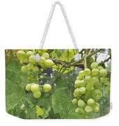 White Graspes Weekender Tote Bag