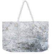 White Grungy Cement Wall Weekender Tote Bag