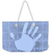 White Hand Cyan Weekender Tote Bag