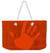 White Hand Orange Weekender Tote Bag