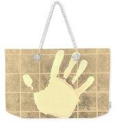 White Hand Sepia Weekender Tote Bag