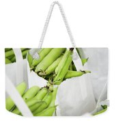 White Handled Bags Containing Fresh Weekender Tote Bag