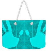 White Hands Aquamarine Weekender Tote Bag
