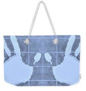 White Hands Cyan Weekender Tote Bag