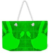 White Hands Green Weekender Tote Bag