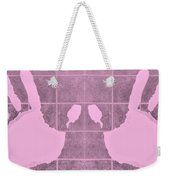 White Hands Pink Weekender Tote Bag