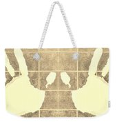 White Hands Sepia Weekender Tote Bag