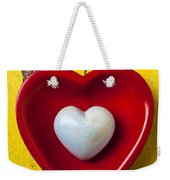 White Heart Red Heart Weekender Tote Bag