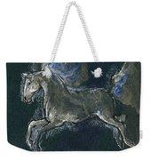 White Horse Minature Painting Weekender Tote Bag