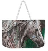 White Horse Painting Weekender Tote Bag