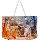 White Horses And Bull In The Camargue Weekender Tote Bag