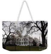 White House On A Cloudy Winter Day Weekender Tote Bag