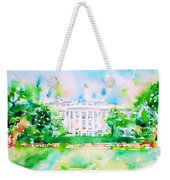 White House - Watercolor Portrait Weekender Tote Bag