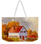 White House With Red Shutters Weekender Tote Bag
