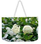 White Hydrangeas Weekender Tote Bag