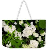 White Hydrangia Beauty Weekender Tote Bag
