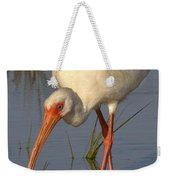White Ibis In Grass Weekender Tote Bag