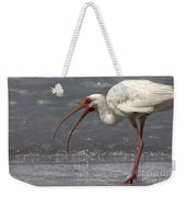White Ibis On The Beach Weekender Tote Bag